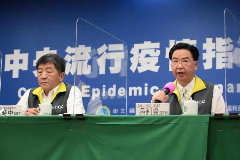 世界衛生大會(WHA)今日在瑞士日內瓦登場,台灣再度缺席,對於今年多國聲援力道強,仍無法參加,外交部部長吳釗燮表示,主要原因是中國對於世界衛生組織(WHO)的控制、干擾力道強大。(圖由指揮中心提供)
