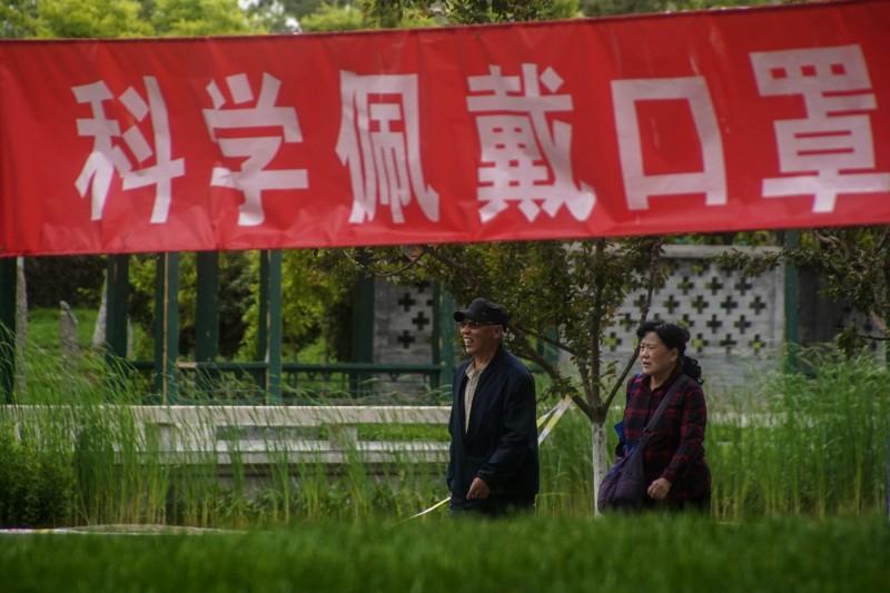 中國疫情有復燃的趨勢,今日上海也淪陷,新增1例從湖北潛江市入滬的確診病例。(歐新社資料照)