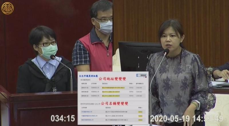 台北市議員游淑慧卻發現,外送平台業者多次拒絕勞檢,雖被裁罰但金額比勞檢違規罰的還輕,業者當然選拒絕勞檢。(取自台北市議會影片)