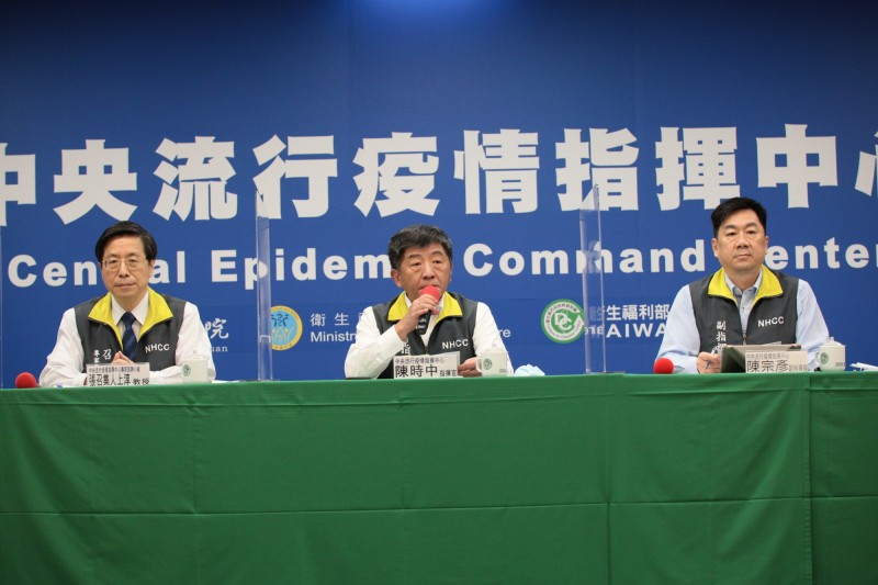 指揮中心指揮官陳時中指出,口罩目前庫存量是滿水位,未來一定會開放,但時程要有步驟。(指揮中心提供)