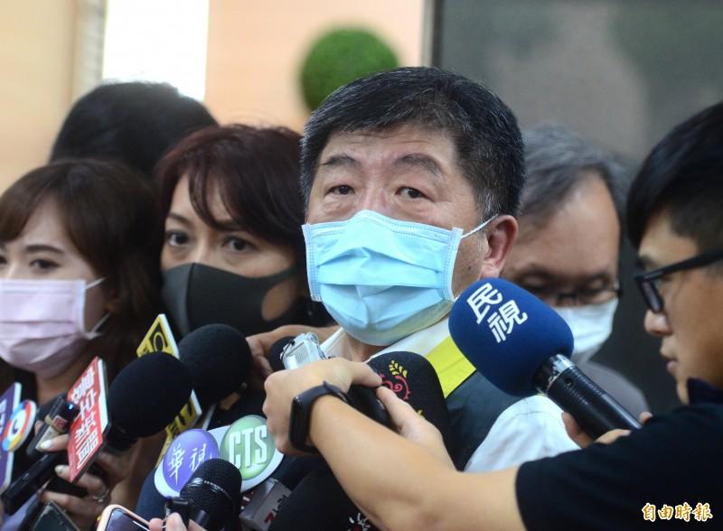 指揮中心指揮官陳時中表示,雖然台灣仍無法參與WHA,但世界已經看見台灣、也需要台灣。(記者王藝菘攝)