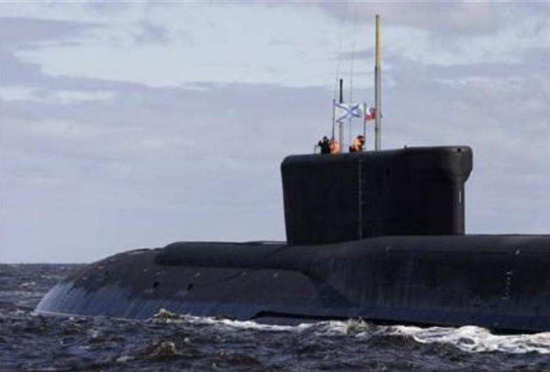 圖為955型、北風之神級戰略型核潛艦Yuri Dolgoruky。(路透)
