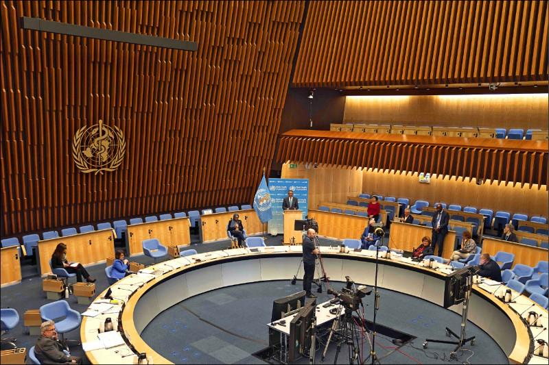 世界衛生大會(WHA)召開視訊會議,已有廿四國,在大會發言中為台灣參與發聲。(法新社)