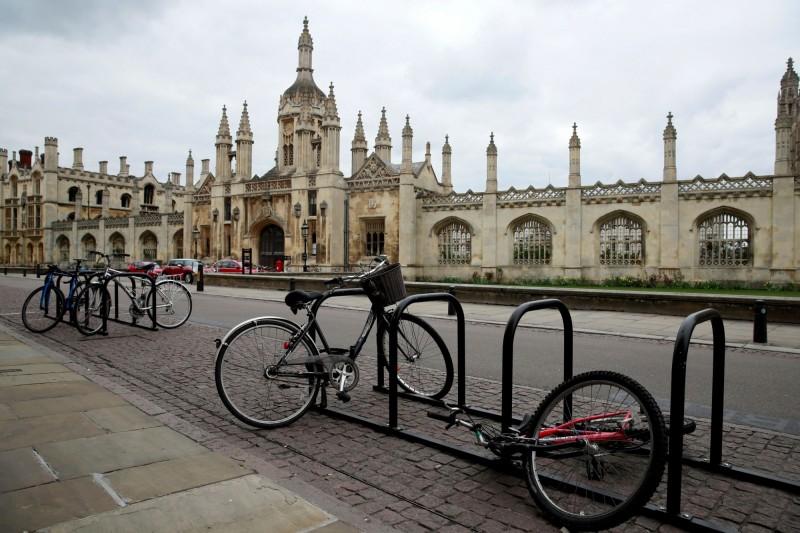 今年4月的劍橋大學校園外觀。(路透)