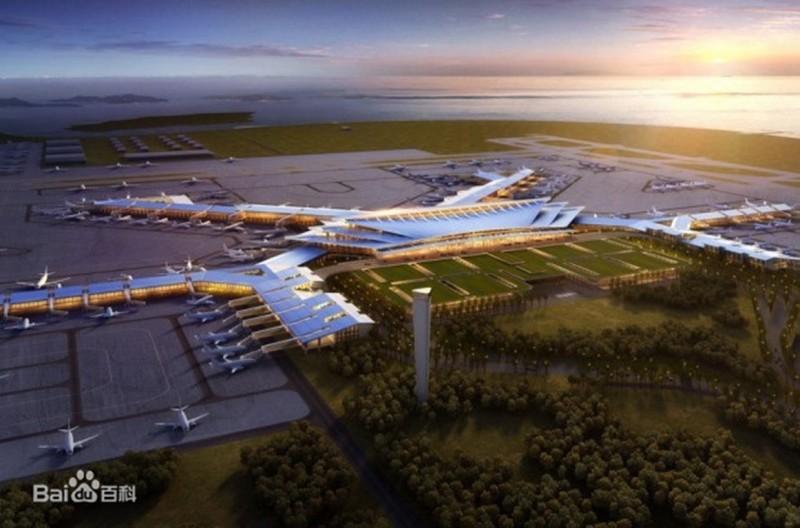 圖為中國廈門翔安國際機場設計圖。(翻攝百度百科)