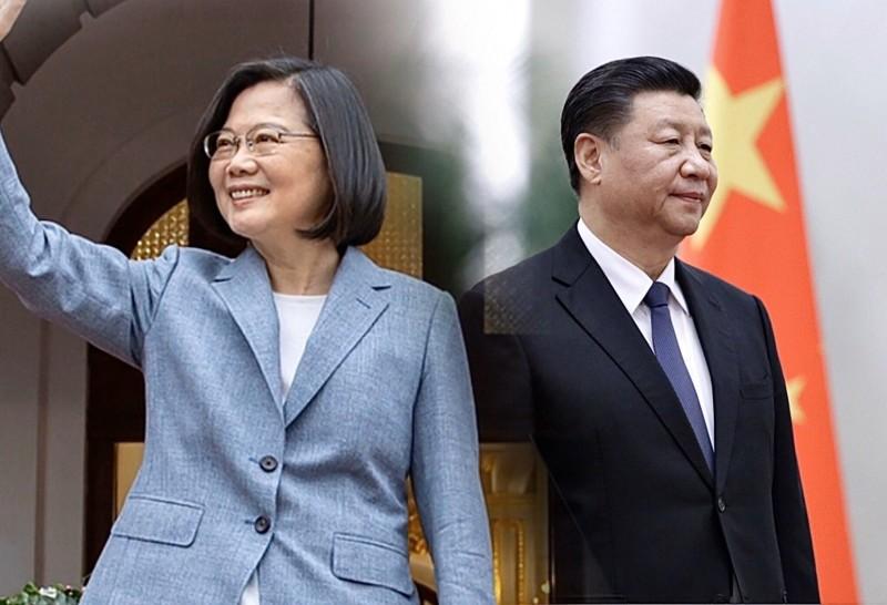 台灣總統蔡英文(左)堅決拒絕中國領導人習近平(右)提出的一國兩制台灣方案。(路透,法新社;本報合成)