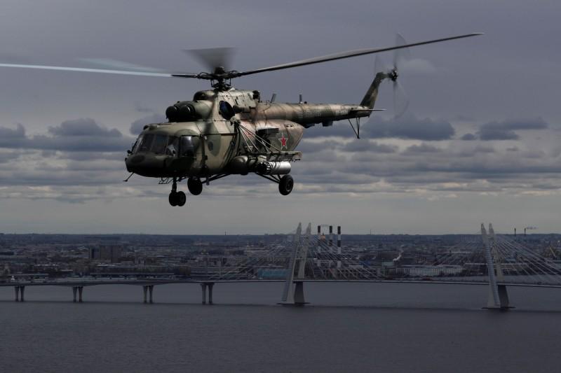 米-8直升機於1967年於蘇聯空軍服役,至今產量超過1萬2千架,外銷超過80個國家,成為目前世界上產量最大的直升機。(路透)