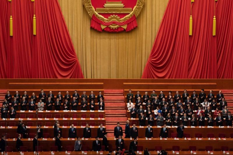 中國人大將在5月21日舉行,英國專家認為,中國針對台灣問題,除了重申對台立場,不會有其他有新意的發言。圖為2019年中國人大會議。(歐新社)