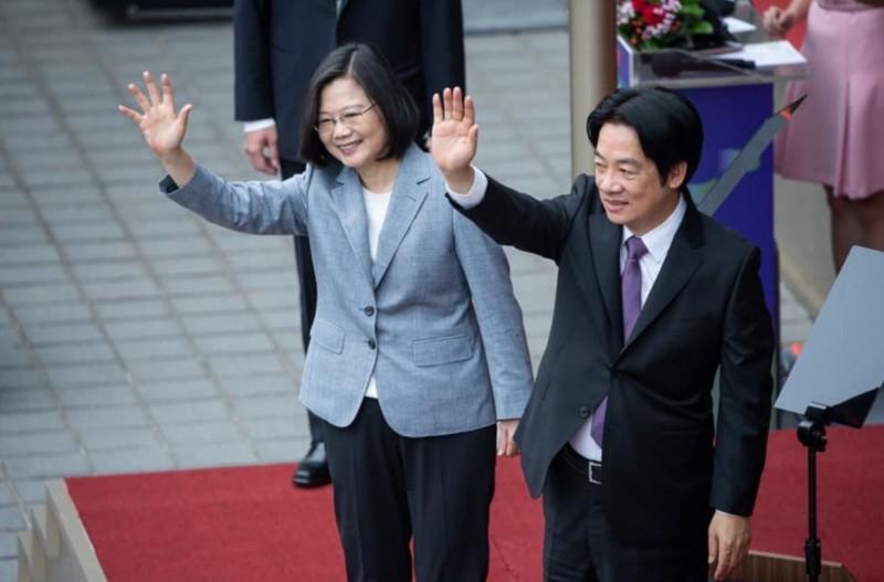 總統蔡英文與副總統賴清德今日宣誓就職。(圖擷取自臉書)