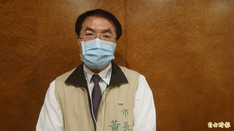對於總統蔡英文續任執政新局,台南市長黃偉哲表達看法。(記者洪瑞琴攝)