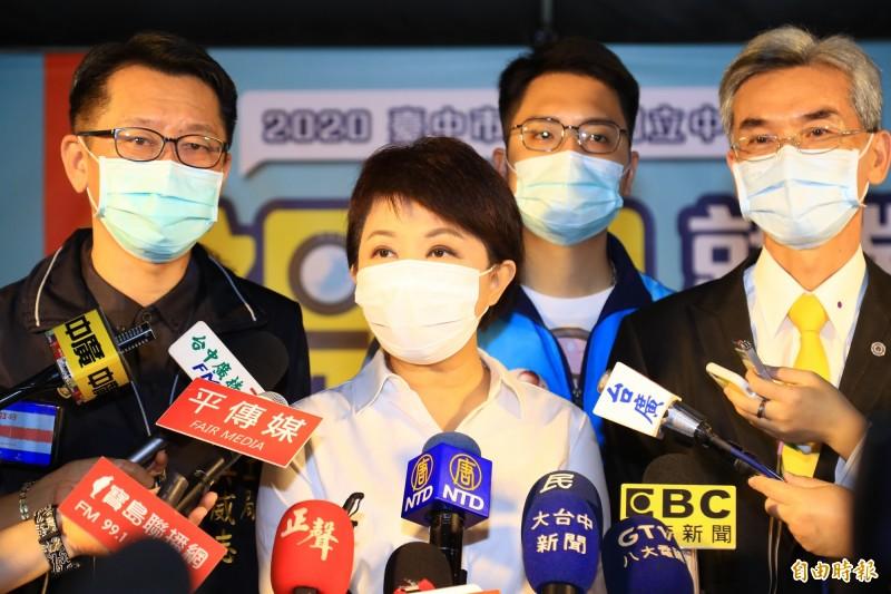 警方正在偵訊縱火嫌疑人,盧秀燕指示相關局處,「絕不寬貸,一定嚴懲」。(記者蘇孟娟攝)