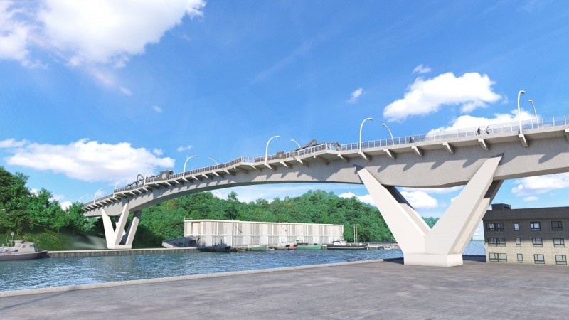 南方澳跨港大橋今天公布新橋設計圖。(圖由蘇花改工程處提供)