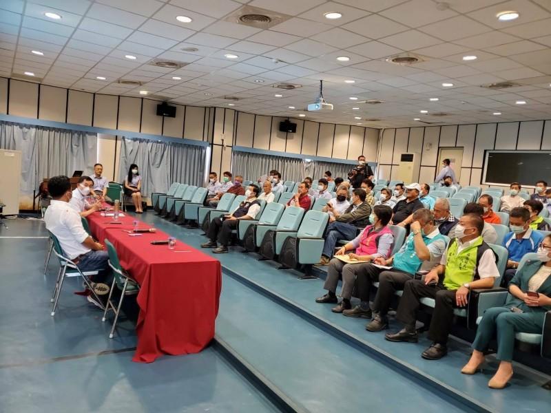 蘇花改工程處今天在蘇澳區漁會舉辦第2次民眾說明會。(記者江志雄翻攝)