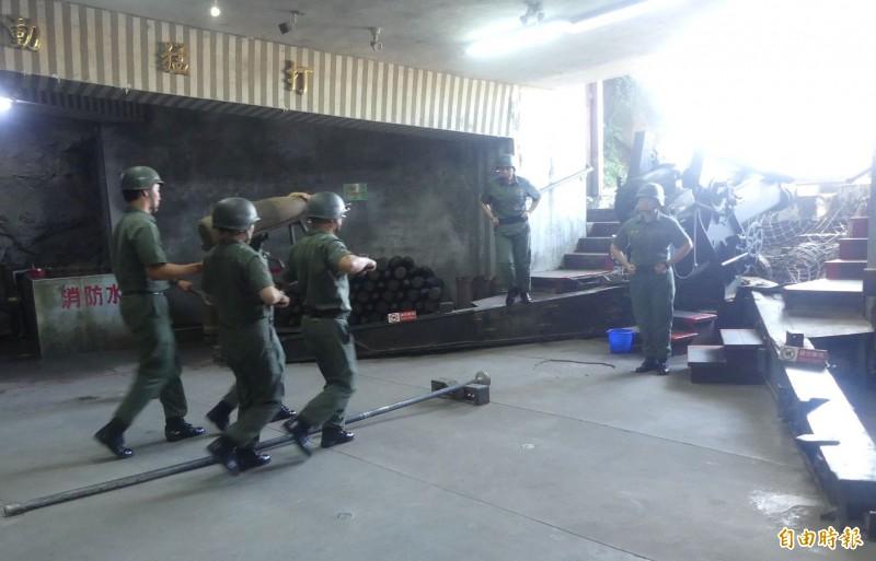 金門獅山砲陣地的砲操展示預定六月一日重新開放。(資料照片 記者吳正庭攝)