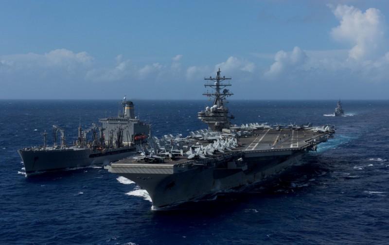 有中國網友妄想要以干涉內政為由,攔截美軍運送售台武器船隻。圖為美國海軍示意圖,與本新聞無關。(路透)