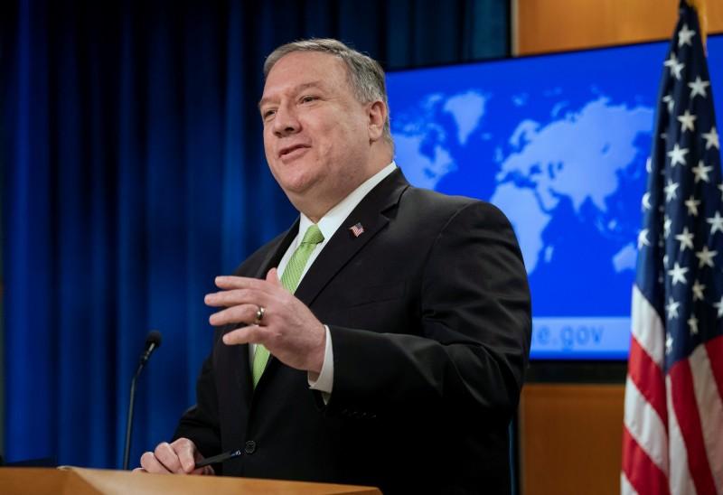 美國國務卿龐皮歐20日在記者會上猛烈抨擊中共,稱自1949年起,中國一直被殘暴的共產黨政權所統治,美國曾希望其改變但失敗。(美聯社)