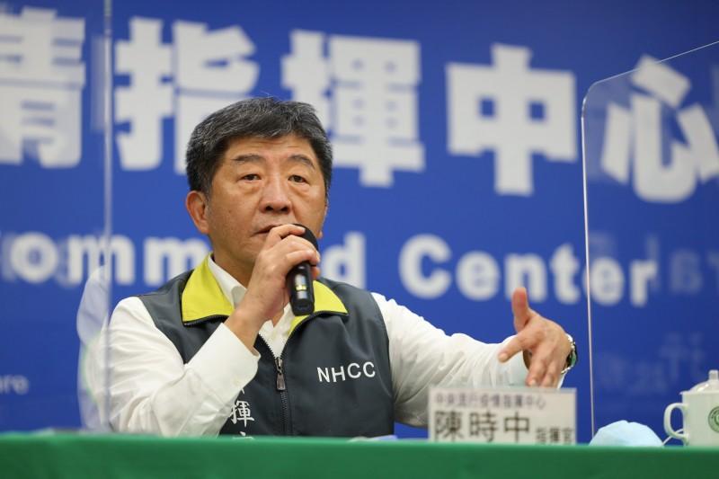 指揮官陳時中指出,病毒正在分化人類,不要讓對立軟化對抗病毒的力量,回歸人和病毒的戰役才是正道。(指揮中心提供)