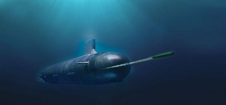 圖為我國先前向美採購的MK48 MOD6型長程重型魚雷,示意圖。(圖取自雷神公司網站)。