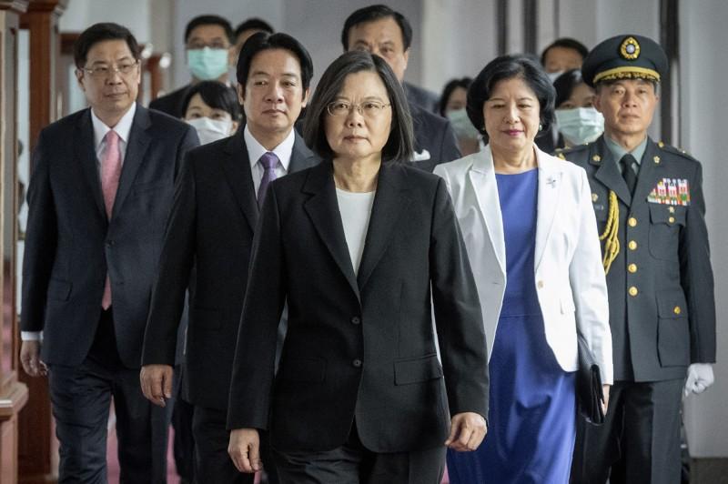 專家認為蔡英文演說中傳遞的訊息,是台灣歷任總統談話中,對中國態度最強硬的一次。(美聯社)