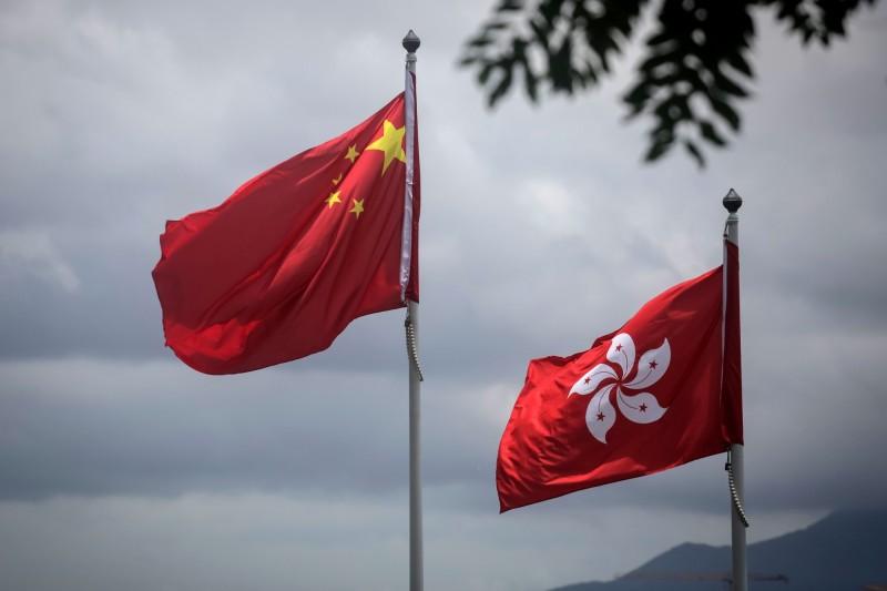 中國人大今晚宣布,明將審議全國人民代表大會常務委員會關於提請審議《全國人民代表大會關於建立健全香港特別行政區維護國家安全的法律制度和執行機制的決定(草案)》的議案。(法新社)