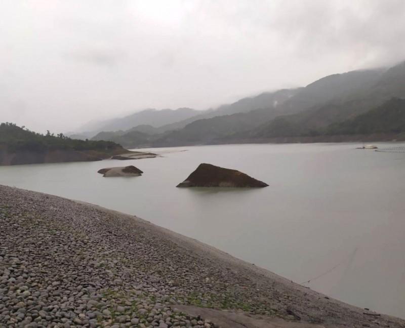 南化水庫上游也有明顯降雨。(記者吳俊鋒翻攝)