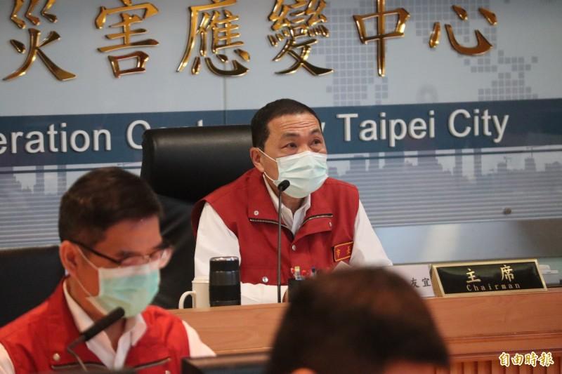 侯友宜表示,目前國內疫情相對安全,新北將從觀光和商圈帶動周邊買氣。(記者周湘芸攝)