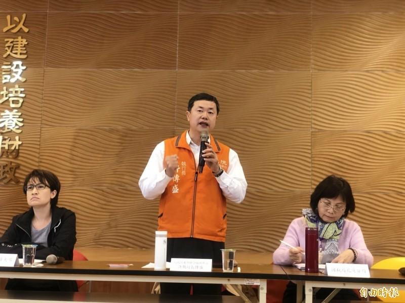 行政院東部聯合服務中心執行長許傳盛在520辭去執行長職務。(記者王錦義攝)