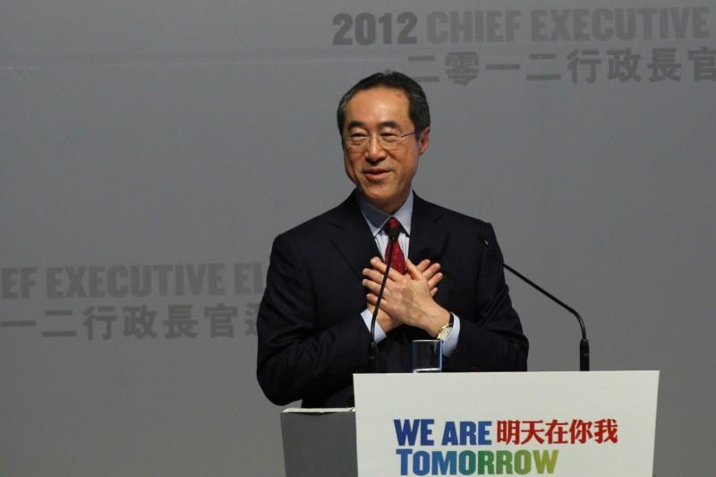中國全國政協常委、香港政務司前司長唐英年。(路透資料照)
