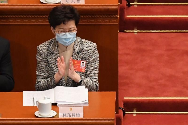 香港特首林鄭月娥參加此次中國全國人大會議。(法新社)
