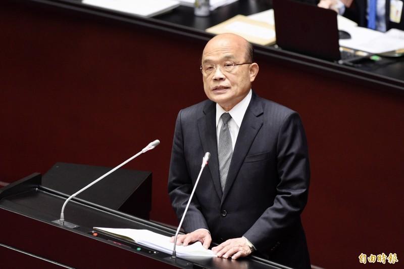 行政院長蘇貞昌盼立院本會期促轉會委員提名、農退休例等重要議案儘速過關。(資料照)
