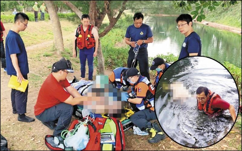 李姓男子被警方載到 億載金城玩,不幸溺 斃。 (記者王捷翻攝)