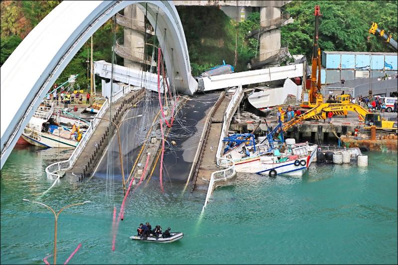 宜蘭縣南方澳跨港大橋斷橋事件懲處48人。(資料照)