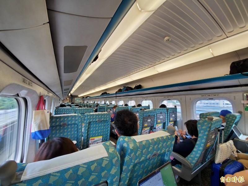 台灣高鐵說明,團體票是買區塊,因此沒有梅花座。(記者林惠琴攝)