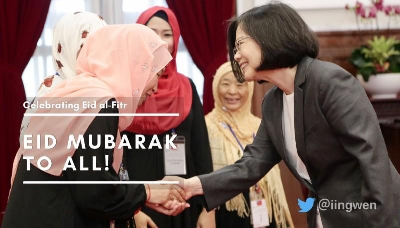 蔡總統祝福穆斯林朋友 開齋節快樂!