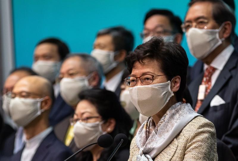香港特首林鄭月娥支持「港版國安法」。(歐新社)