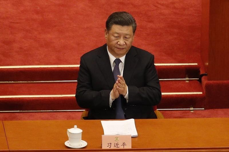 中國領導人習近平21日出席中國「兩會」之一的全國政協會議。(歐新社)