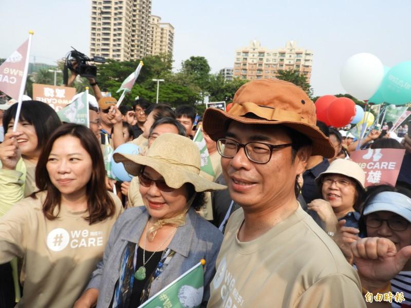 民進黨高市黨部明進行黨公職改選,陳菊、陳其邁都計畫明天回老家投票。(資料照)
