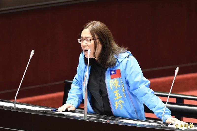 陳玉珍反擊管碧玲,拿對岸發的學位證書來論述合適嗎?並指自己在日本的學位證書寫「中國台灣」,怎麼就不拿來講?(資料照)