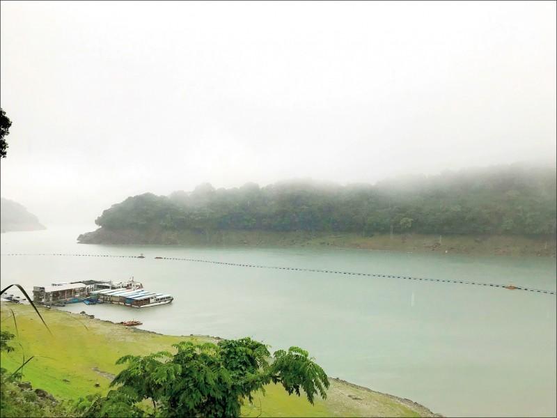 受惠連日大雨,石門水庫水情逐漸好轉。 (北水局提供)