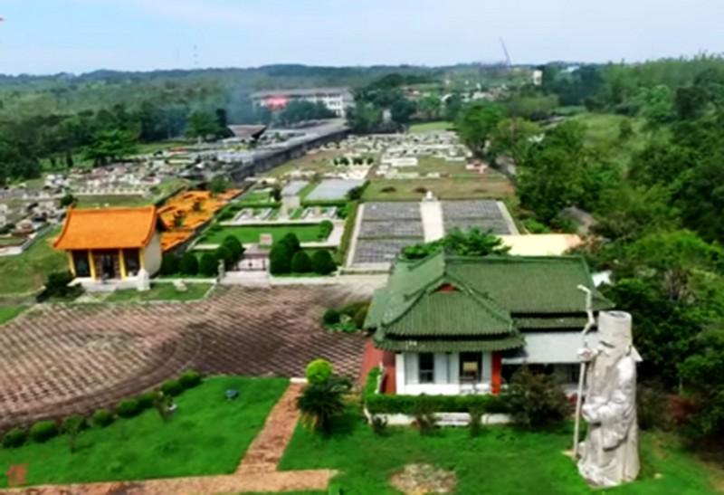 第一花園公墓在今年2月底合法啟用。(記者張菁雅翻攝)