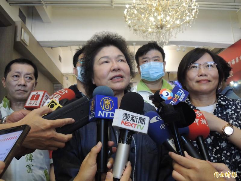 針對黨內選舉部分地方競爭過於激烈,陳菊提醒競爭別變紛爭。(記者王榮祥攝)
