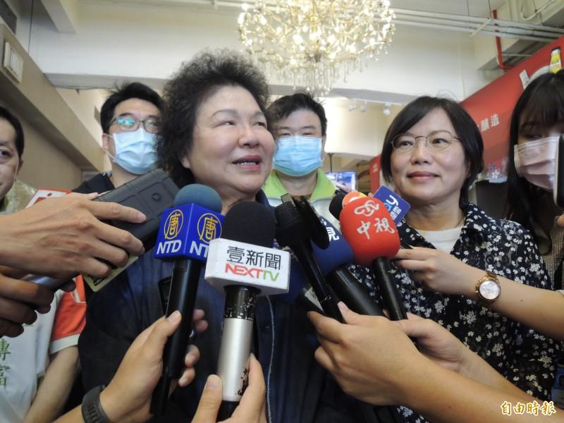 陳菊表示六月六日會盡高雄人責任,回來投票是應該的。(記者王榮祥攝)