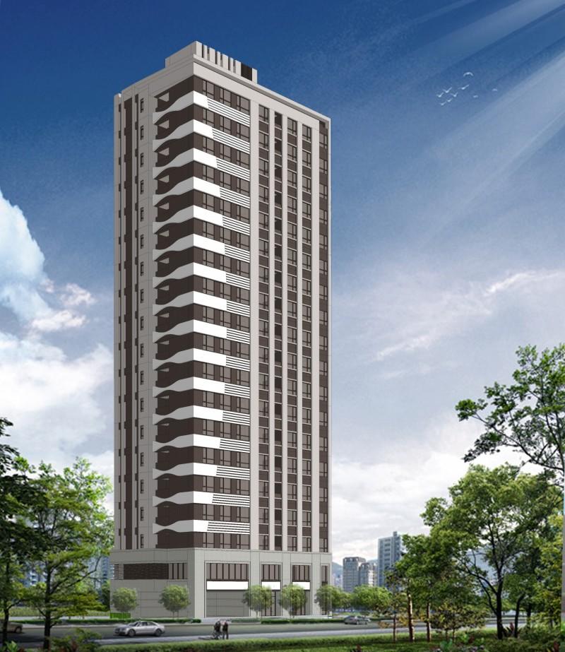 新北市中和區老舊公寓申請建議都更,將改建為19層樓大樓。(圖由都更處提供)