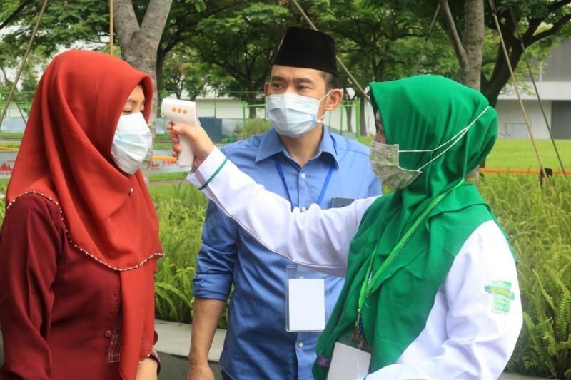 開齋節現場有嚴謹防疫措施。(台灣外籍工作者發展協會提供)