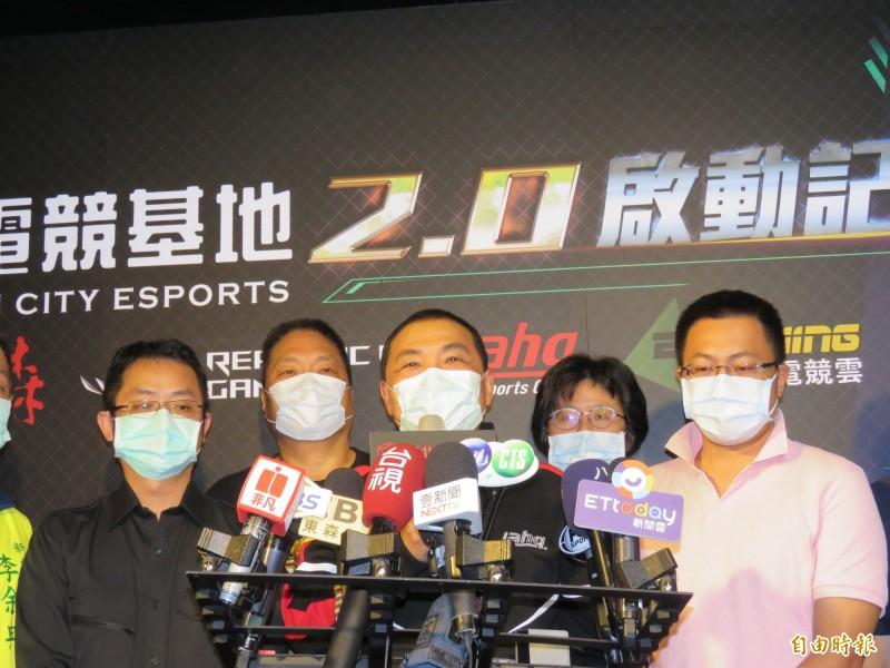 新北市長侯友宜出席「新北電競基地」啟動記者會。(記者陳心瑜攝)