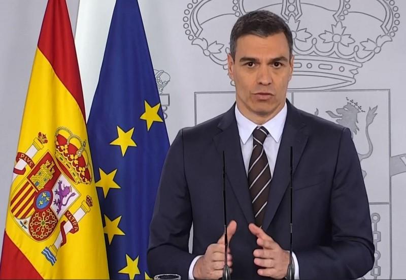 西班牙總理桑傑士宣佈,將於7月重新開放外國旅客入境。(歐新社)