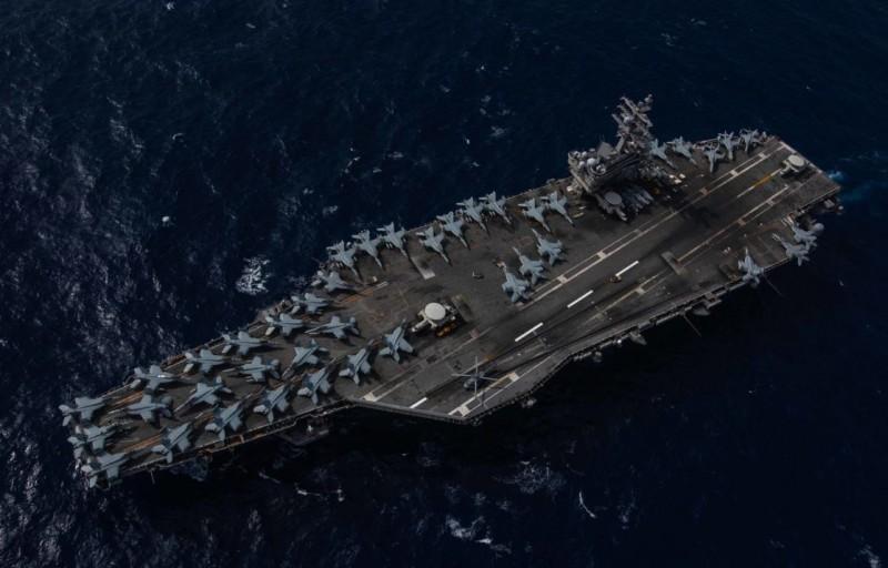 美國航空母艦「雷根號」日前重返大海,並展現了艦載機排滿航艦甲板的照片,向外界傳達美軍在西太平洋仍維持強大的戰力。(照片取自美國第七艦隊新聞稿)
