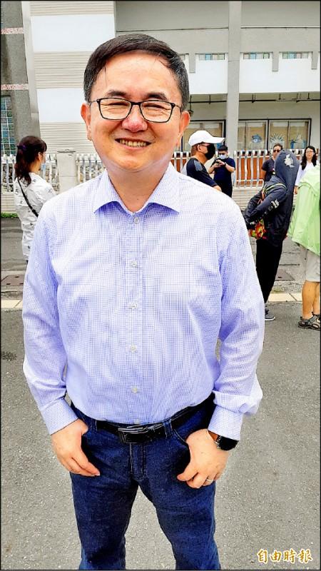 立委劉櫂豪當選下屆民進黨台東縣黨部主委。(記者黃明堂攝)