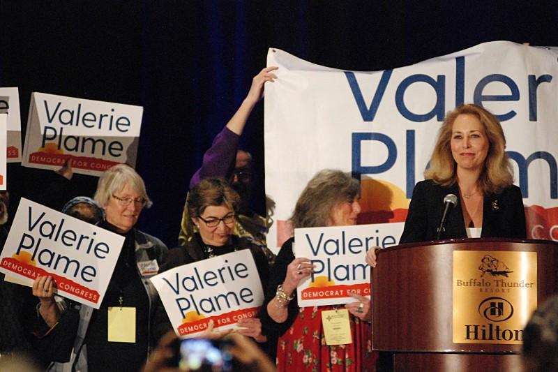新墨西哥州出現全女性參選國會,有望創新紀錄。圖為民主黨國會參選人普拉姆(Valerie Plame)。(美聯社)