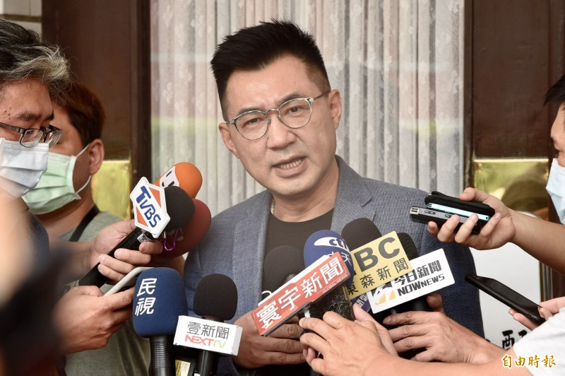 國民黨主席江啟臣立委25日接受媒體訪問。(記者叢昌瑾攝)